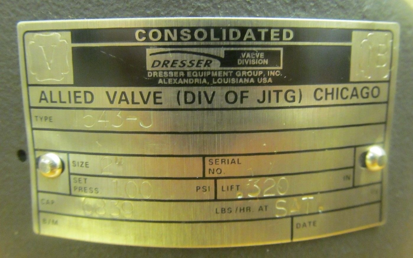 Ge Consolidated Pressure Relief And Safety Valves