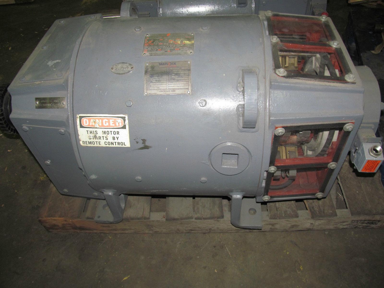 Rebuilt ge kinamatic dc 75 hp motor 5cd203pa093a800 1750 for 500 hp dc motor
