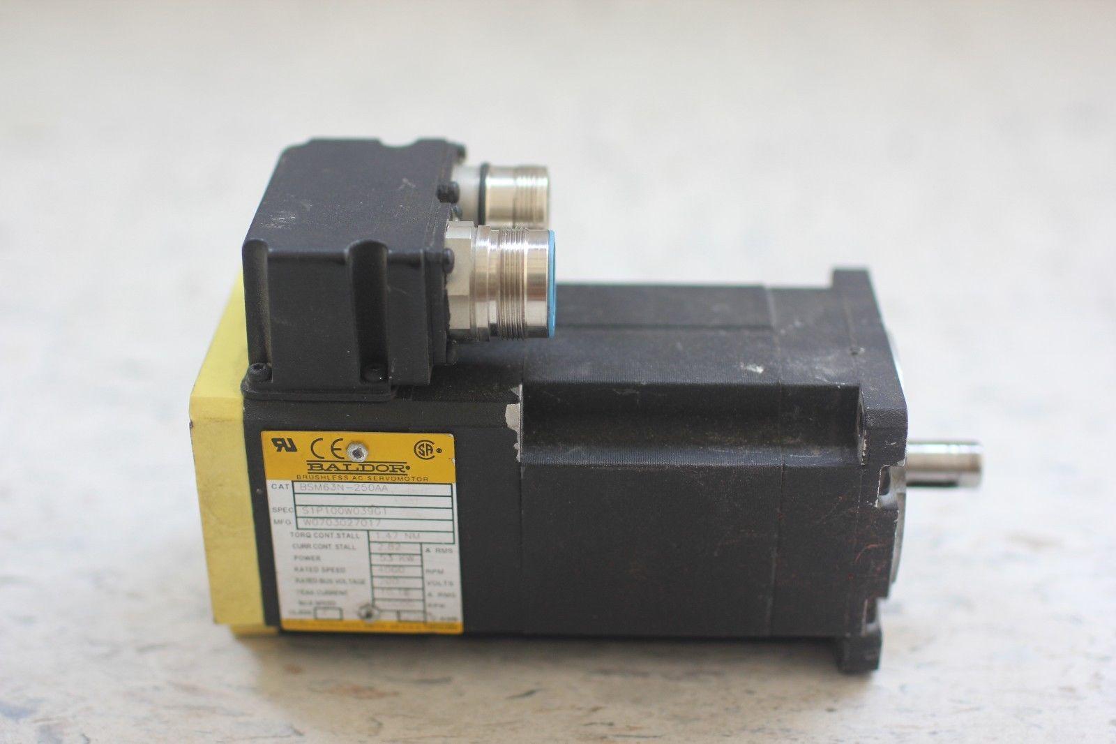 Used Baldor Brushless Ac Servo Motor Bsm63n 250aa