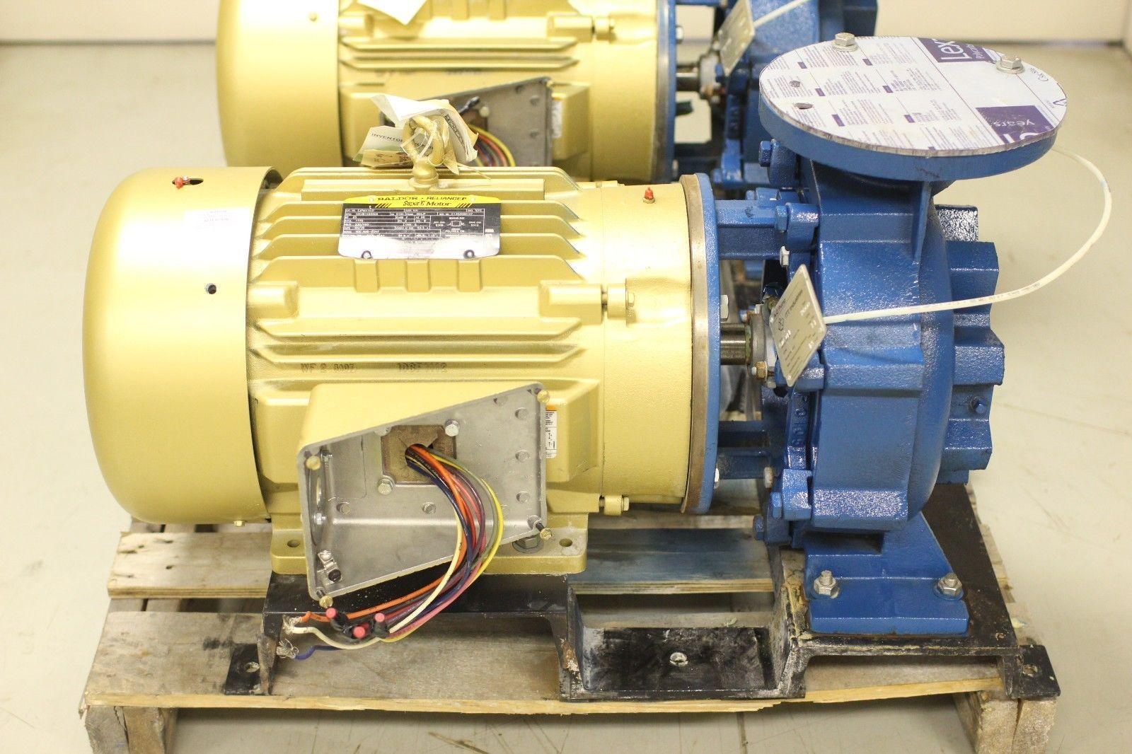 Itt Industries A C Pump Type 2000 6x6x11 W Baldor Super E