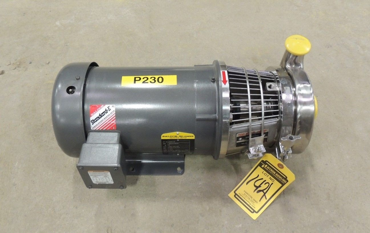 New 5 hp top flo pump s216 18tc 566s1822015 w baldor motor Baldor industrial motor pump