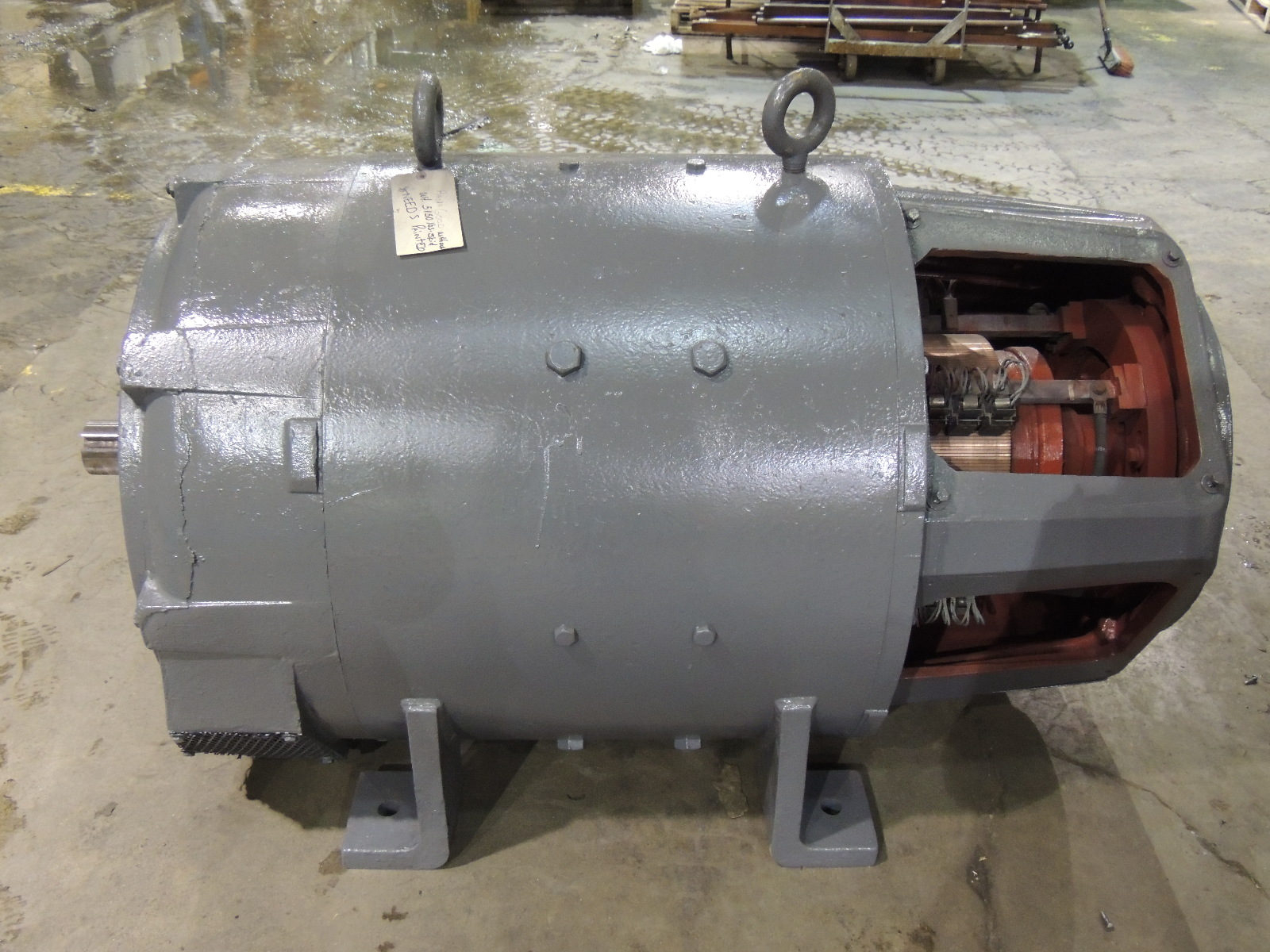 Used westinghouse dc motor 685 as 150 h p 400 rpm 240 for 240 volt electric motors