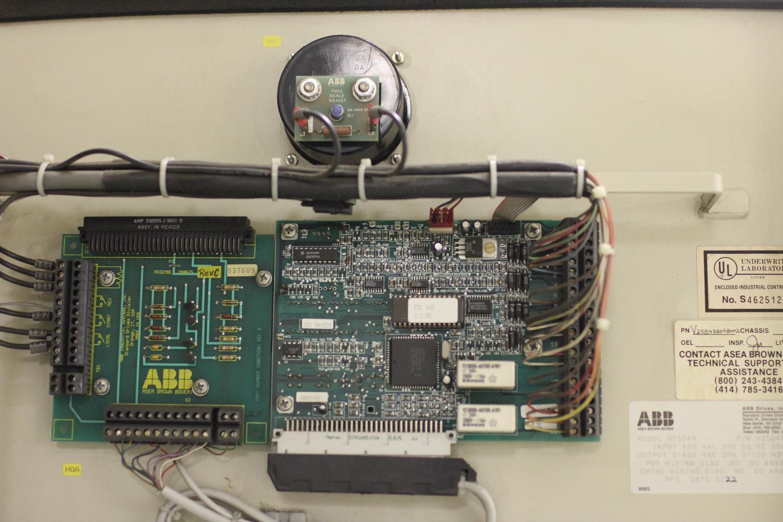 Used Abb Flowstar Ac Drive Vfd 200 Hp Motor Load
