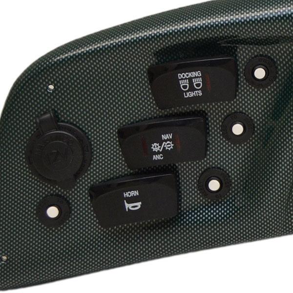 bennington v sport green carbon fiber boat gauge bennington 243 00798 v sport green 27 3 8 carbon fiber boat gauge dash panel