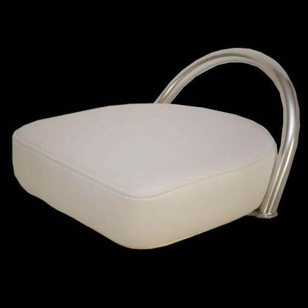 Boat Seat Stool : Harris kayot white vinyl pontoon boat bar stool seat