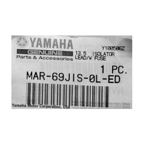 Yamaha MAR-69JIS-0L-ED Black 13.5 Foot Boat Isolator Lead W// Fuse Boat//Marine