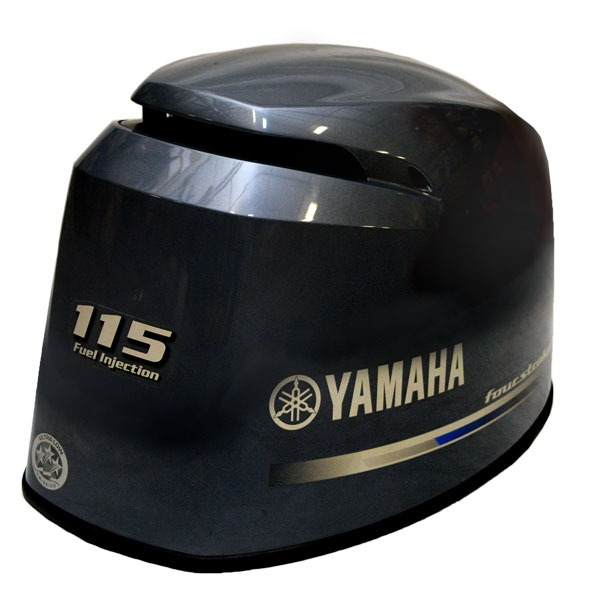 Yamaha 115 four stroke fuel injection gray boat motor top for Yamaha 150 2 stroke fuel consumption
