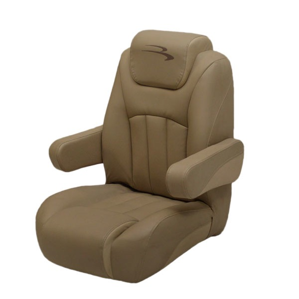 Reclining pontoon boat captains seat chair w logo second ebay