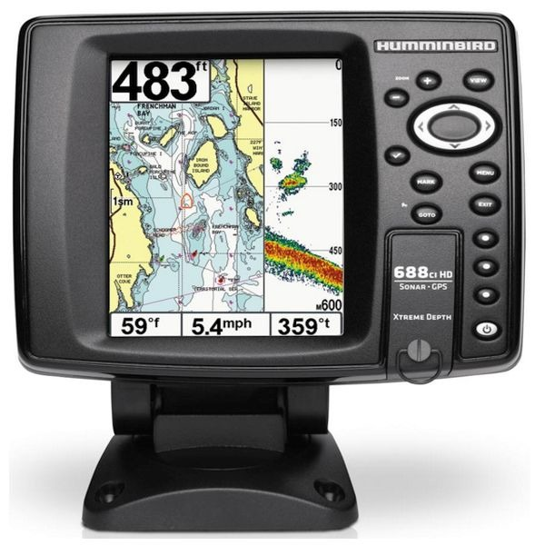 Humminbird 688ci hd xd combo gps boat fishfinder for Best fish finder for small boat