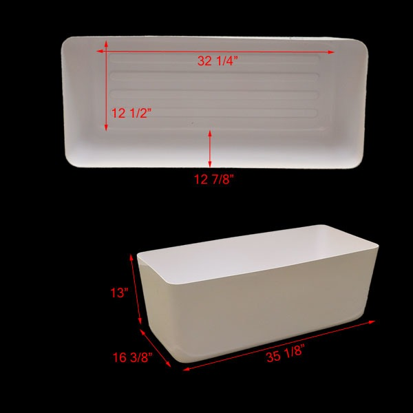 Skiers choice moomba supra white 35 1 8 x 16 3 8 inch for Acrylic tub liner
