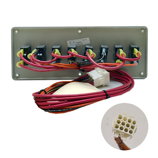 Stratos xl black silver boat gauge switch dash panel