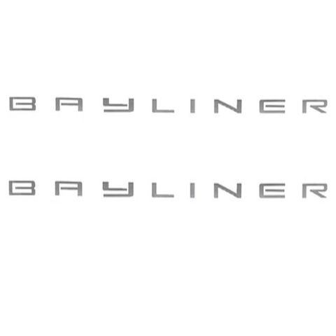Bayliner Boat Vinyl Decal   X   Silver Vinyl Pair EBay - Bayliner boat decals