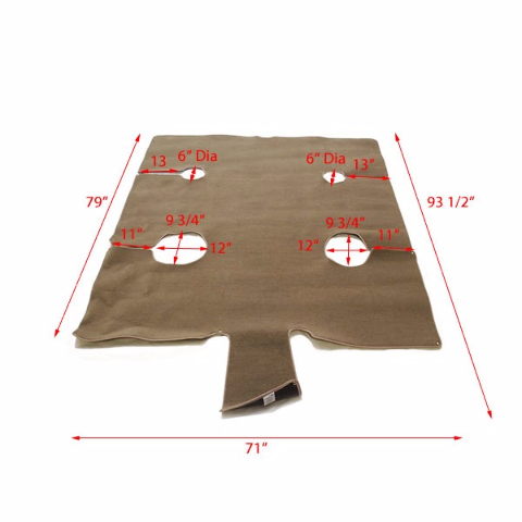 Crestliner 2006601 Taupe Boat Snap In Carpet Kit Ebay