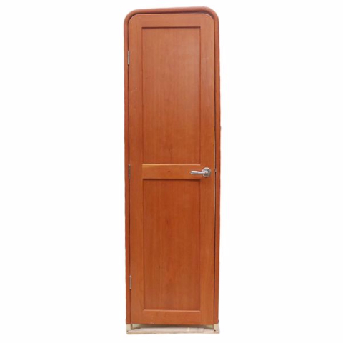 Ocean yachts 72 x 22 inch cherrywood custom locking boat for Boat cabin entry doors