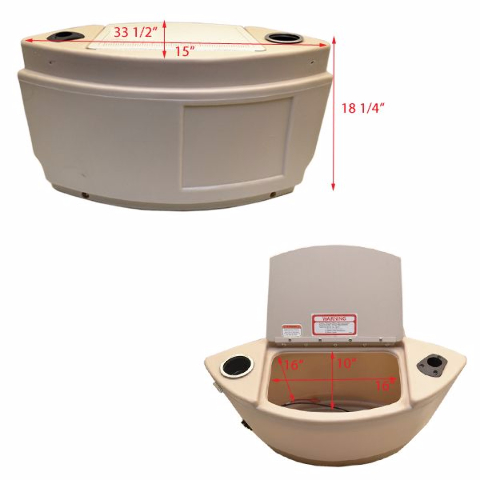 Tracker boat storage console w trolling motor battery for Tracker outboard motor parts