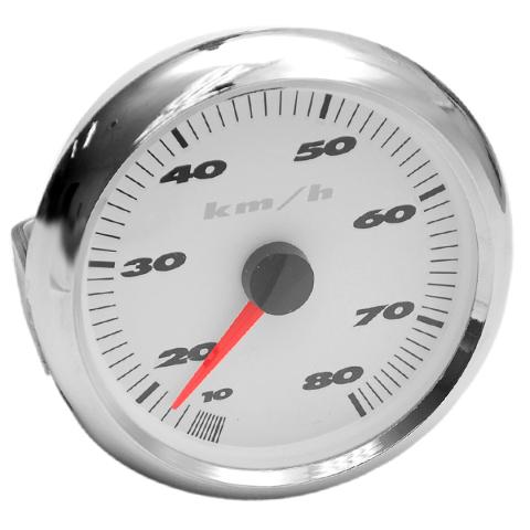 mastercraft 80 km  h silver   white boat speedometer gauge
