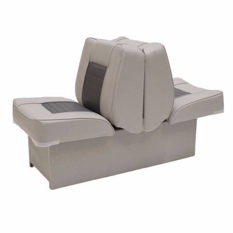 Custom gray charcoal back to back boat lounge recliner for Grey single chair