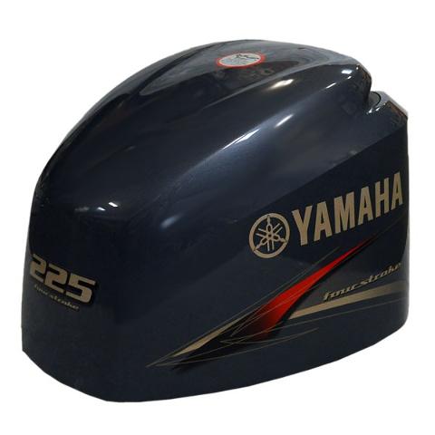 Yamaha 225 four stroke boat motor top cowling hood 6bb for 225 yamaha 4 stroke