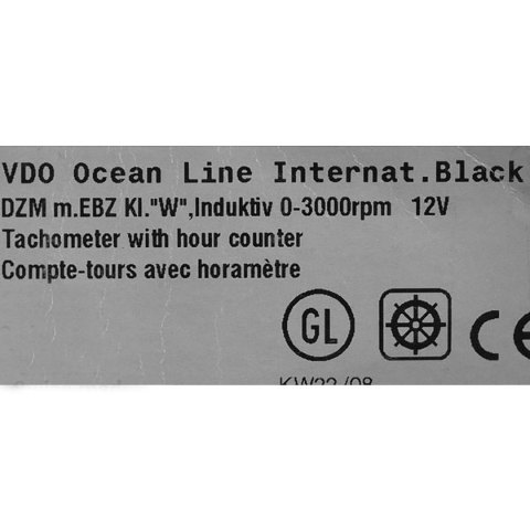 vdo no 02 012 125 black 12v boat 3000 rpm diesel tachometer w hour vdo no 02 012 125 black 12v boat 3000 rpm diesel tachometer w hour meter gauge