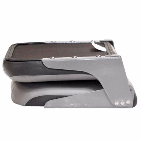 Tracker Premium Gray Red Black Vinyl Marine Boat Folding Bench Seat Ebay