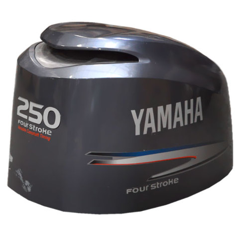 Yamaha four stroke 250 hp marine outboard boat engine hood for Yamaha boat motor covers