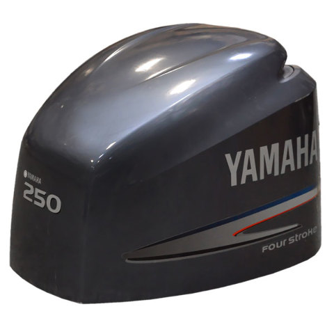 Yamaha four stroke 250 hp marine outboard boat engine hood for Yamaha 250 four stroke