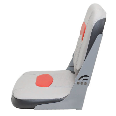 Boat Folding Bench Seat Tracker Gray Red Second Ebay