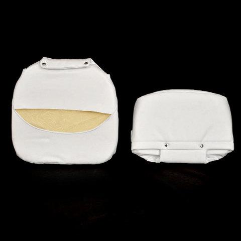 Tempress Boat Seat Cushion White Vinyl 2 Pc Set Ebay