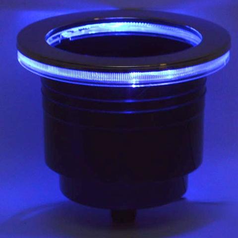 Boat Led Lighted Cupholder 33100 Blue 4 3 4 Inch
