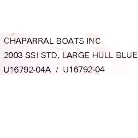 Chaparral Boat Hull Graphic Decals U SSI Blue Set Of - Hull decals
