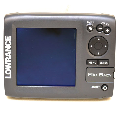 Lowrance boat elite fish finder 000 11177 001 5 inch for Lowrance fish finder gps