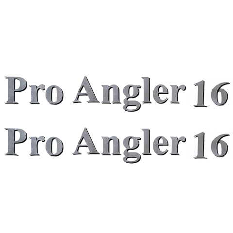 LUND  PRO ANGLER  SILVER W BLACK SHADOW VINYL BOAT - Lund boat decals   easy removal