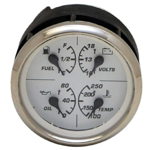 faria fuel gauge wiring diagram faria image wiring faria gfc501a silver white boat multi function fuel volts on faria fuel gauge wiring diagram