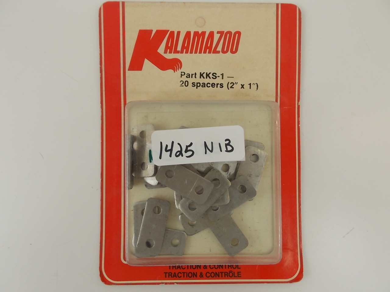 """Details about  NEW Kalamazoo Snowmobile Backing Plat Spacers 20 2"""" X 1"""" Traction & Contl KKS-1"""