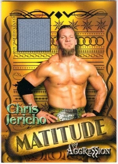 CHRIS JERICHO 2003 Fleer WWE Aggression Matitude Event Used Mat Card