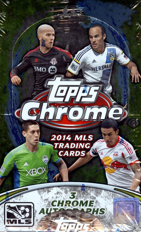 2014 Topps Chrome MLS Soccer Hobby Box (24 Pack s)(Factory Sealed)