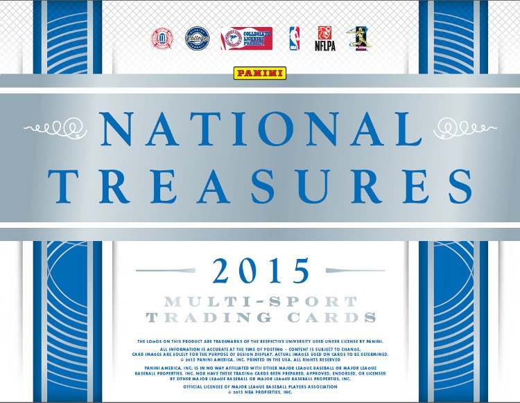 2015 Panini National Treasures Collegiate Multi-Sport Hobby Box (Sealed) College