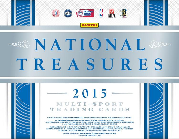 2015 Panini National Treasures Collegiate Multi-Sport Hobby 4 Box Case College