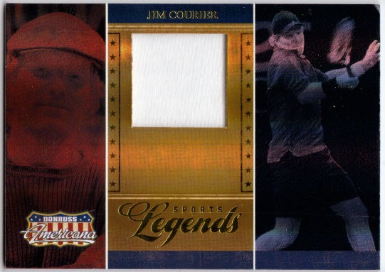 JIM COURIER 2007 Donruss Americana Sports Legends Tennis Shirt Card 265/500
