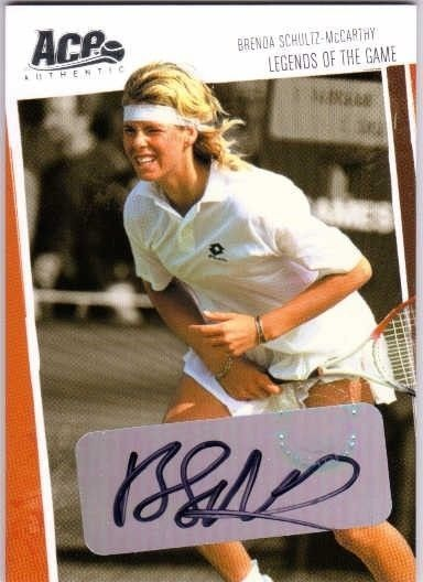 BRENDA SCHULTZ-McCARTHY 2006 Ace Authentic /400 Heroes Legends of Game Auto Card