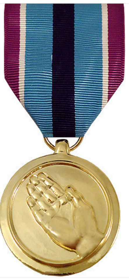 Officers Equipment Company Full Size Humanitarian Service Medal Award ANODIZED