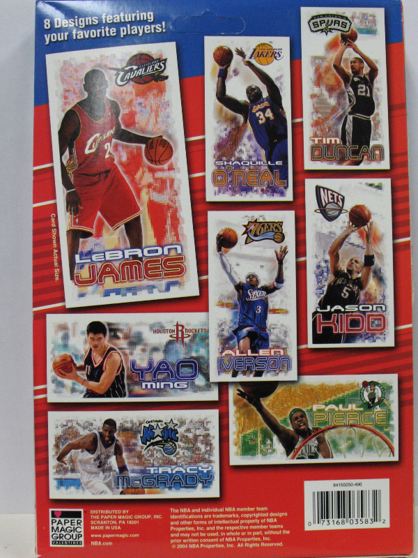 NBA 2004 Box Of Foil Valentine Cards 30 Count New LeBron James – Box of Valentine Cards