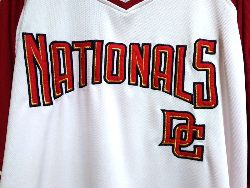 sale retailer 31462 26854 Stitches Washington Nationals Red & White Jersey Shirt Size 2XL MLB Baseball