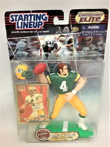 2000 Brett Favre NFL Starting Lineup Elite Sports Superstar Collectibles Exclusive Pacific Trading Cards Green Bay Packers