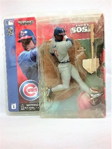 2002 Sammy Sosa Gray Grey Jersey Variant McFarlane's Sportspick Figure Series 1 Chicago Cubs MLB Major League Baseball