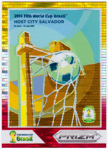 2014 Panini Prizm World Cup Brazil Posters Red White Gold Prizms  #11 Salvador