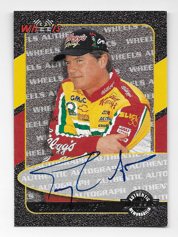 Terry Labonte NASCAR 1999 Wheels Authentics auto  blue Autograph