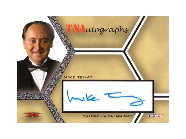 MIKE TENAY 2008 TriStar TNA Wrestling Impact Autograph Card Auto