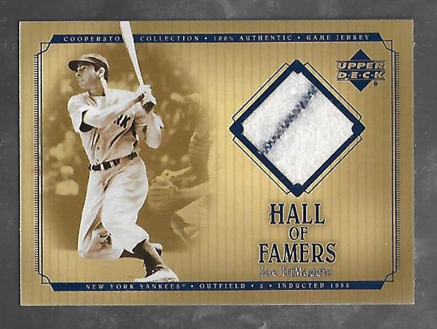JOE DIMAGGIO 2001 Upper Deck Hall of Famers Cooperstown Game Jersey patch  #J-JD
