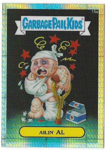 AILIN' AL Garbage Pail Kids Chrome Series Refractor #15b